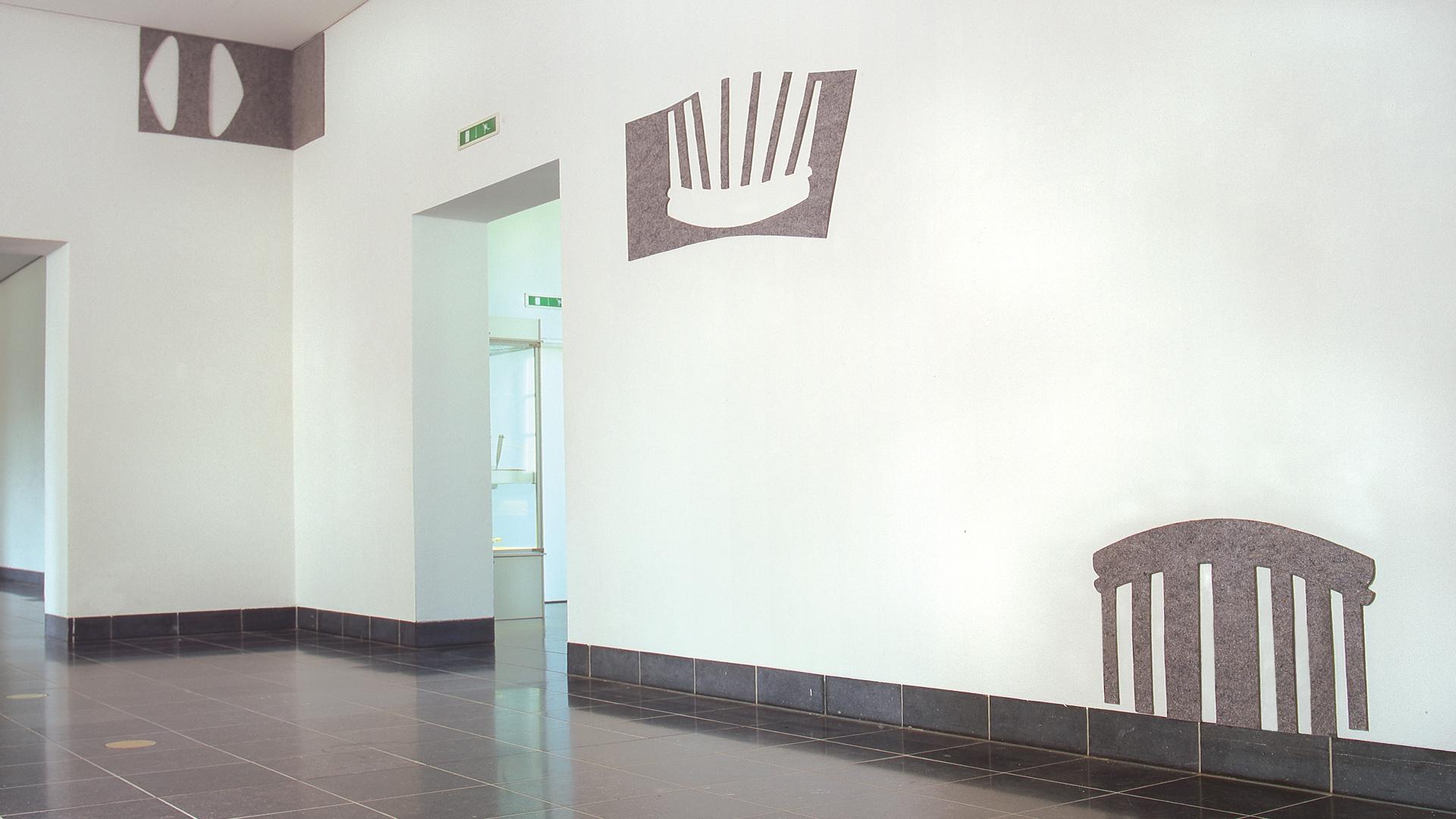 Filz - aus der Serie: Resistente Schatten (Des Ombres Résistantes ) -  Berg. Kunstausstellung - Klingenmus. Solingen