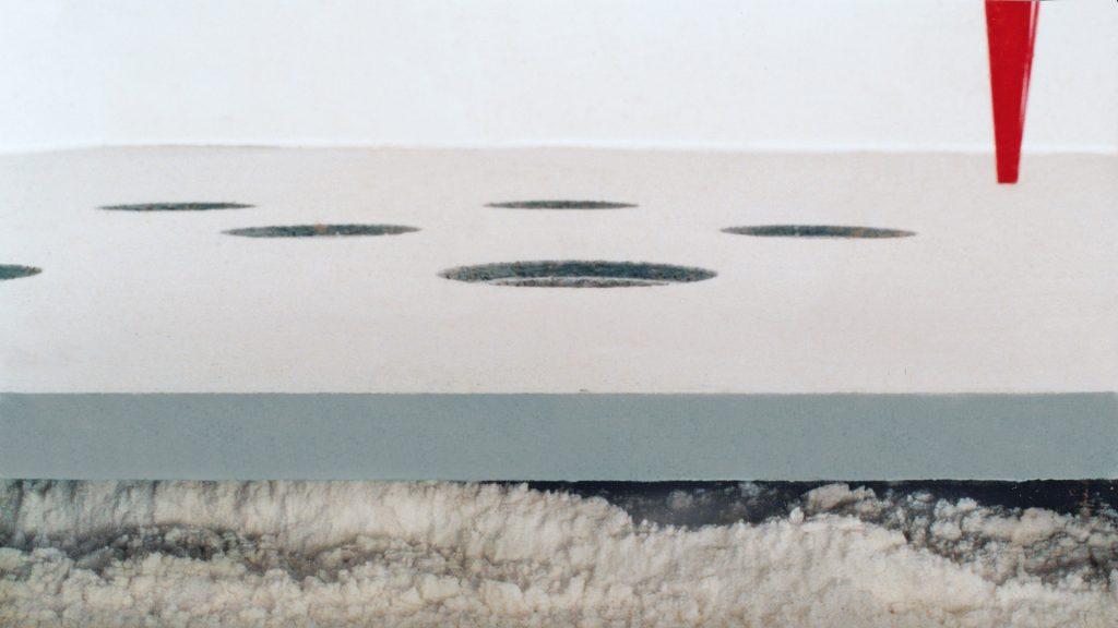 SIEBEN MAL SIEBEN - ein skulpturales Ereignis - Kunstraum ARTillerie, Köln  - Intervention im Schaufensterraum der ehemaligen Bäckerei