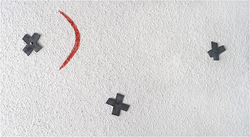 """Sternbild -  25 er Unikat-Edition  -  mit Anleitung zum """"3-Kreuze-in-die-Wand-nageln"""" (Publikumsbeteiligung)"""